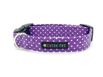 Mauve Polka Dot Collar | Ditsy Pet